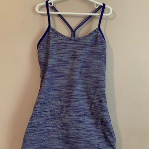 Lululemon purple & white stripped tank top